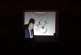 Dr. J. Kirkland during the award talk